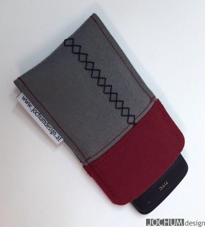 Smartphonetasche  2 mm Filz / zweifarbig